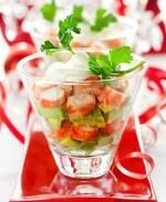 Коктейль из крабового мяса и авокадо