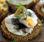 anchovy-canapes-garnished-with-dill-and-yolk