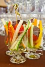 Канапе - овощи в стаканчике
