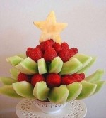 Канапе Елочка из фруктов